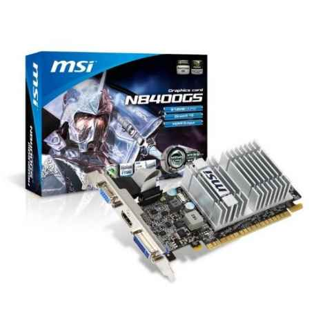 MSI N8400GS-MD512H nVidia GeForce 8400GS 512MB DDR3 VGA/DVI/HDMI Low  Profile PCI-Express Video Card